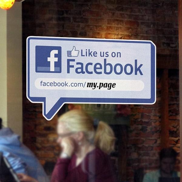 מדבקת חלון לייק בפייסבוק